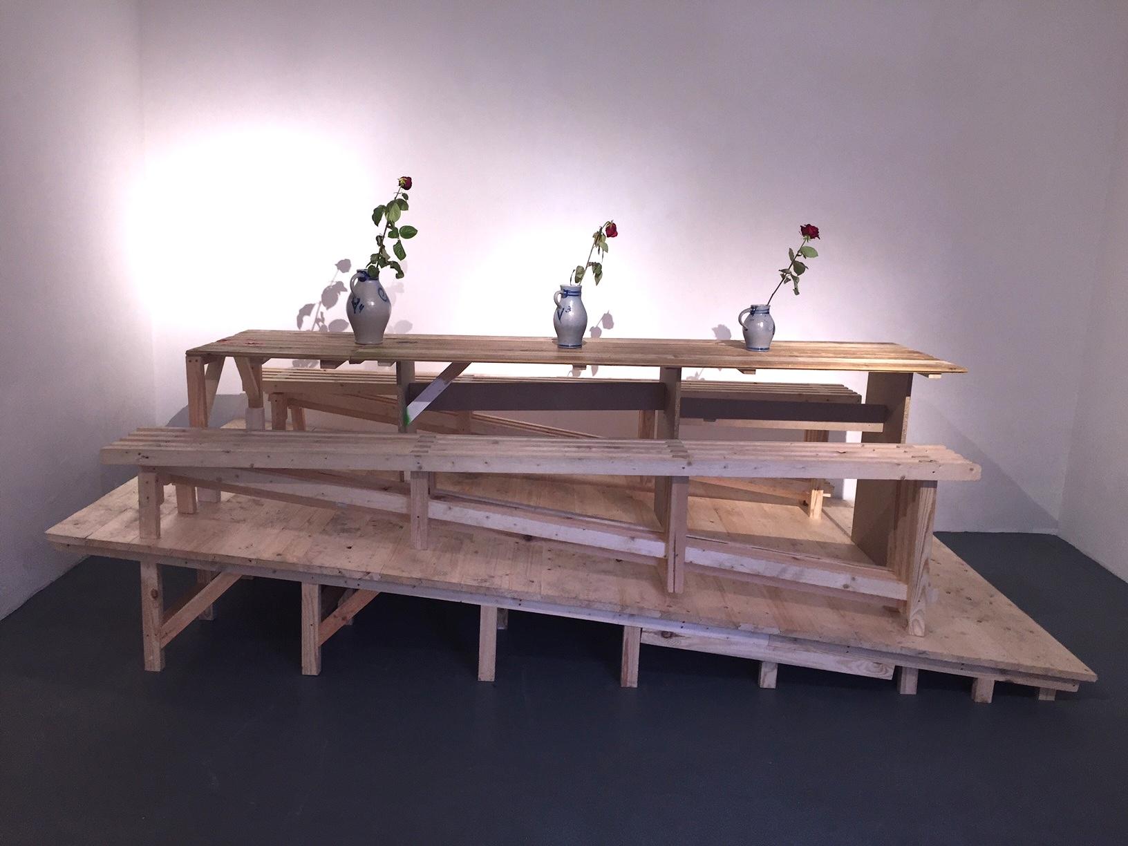 Timo Klöppel, Das experiment mit den 12, 365 x 200 x 110 cm, 2016